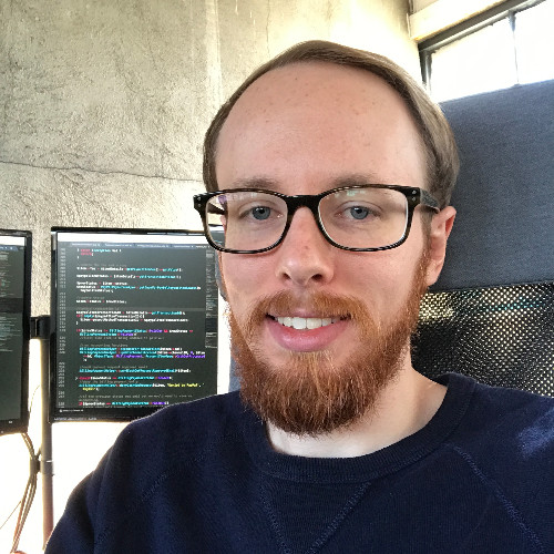 Thomas sitting proud about that code on his monitor that he totally ripped off from Stack Overflow